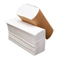 S Fold White Hand Towels